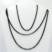 28312-NEGRO FASHION JEWELRY 120 CM X 3 MM CHAIN