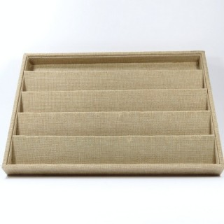 33774 CLOTH EFFECT TRAY FOR EARRINGS 3 X 35 X 24 CM