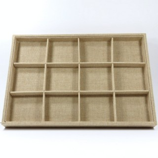 28043 CLOTH EFFECT TRAY FOR BROOCHES 3 X 35 X 24 CM