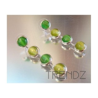 12837 EARRINGS WITH 4 CATEYE STONES