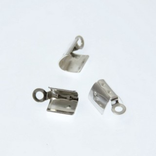 29486 PACK OF 10 CLASPS FOR 3 MM CORDS IN SILVER