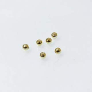 22860 PACK OF 40 GOLD PLATED SILVER 3 MM BEADS WITH 0.8 MM HOLE