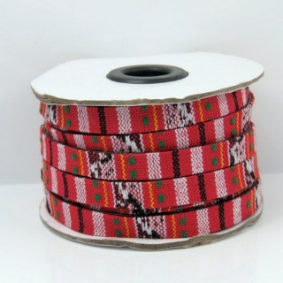 26010-01 ROLL OF FLAT ETHNIC CORD 10 MM X 10 M