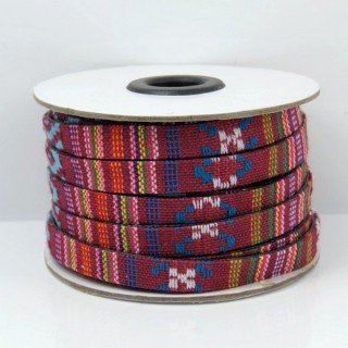 26010-08 ROLL OF FLAT ETHNIC CORD 10 MM X 10 M