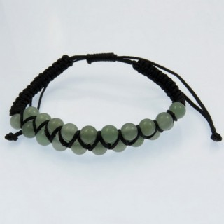 29219-03 SLIPKNOT BRACELET WITH 21 BEADS OF 6 MM AVENTURINE