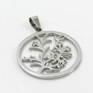 29362 STAINLESS STEEL TREE OF LIFE 35 MM PENDANT
