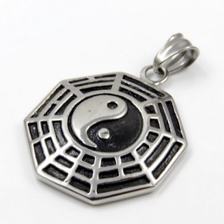 31581 YIN & YANG STAINLESS STEEL 33 MM PENDANT