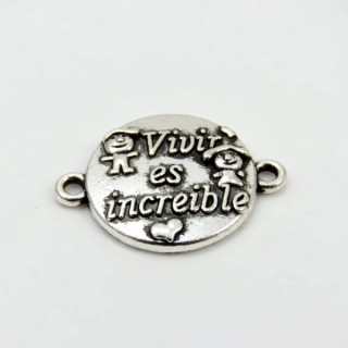 29056-04 PACK OF 10 CHARMS WITH SPANISH PHRASES 16 MM