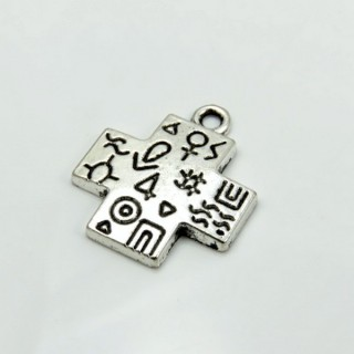29039-64 PACK 10 PCS FASHION METAL 24 X 21 MM CHARMS