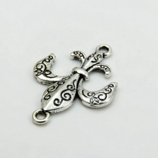 27999-10 PACK 14 PCS FASHION METAL 28 X 20 MM CHARMS