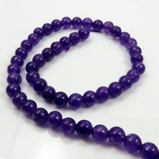 29392-04 STRING OF 48 BEADS OF 8 MM DYED JADE