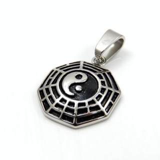 31579 STAINLESS STEEL 25 MM YIN YANG PENDANT