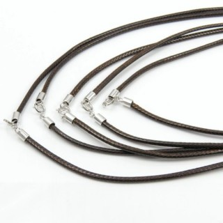 30848-04 PACK OF 5 WAX CORDS WITH SILVER CLASP 40 CM