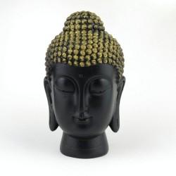 30818 BLACK RESIN GAUTAM BUDDHA FIGURE 167 X 98 X 60 MM
