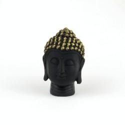 30816 BLACK RESIN GAUTAM BUDDHA FIGURE 95 X 58 X 35 MM