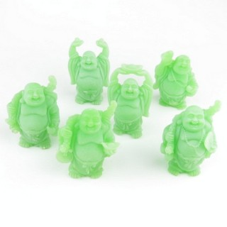 30825-03 SET OF 6 RESIN LAUGHING BUDDHA OF APROX. 6 CM