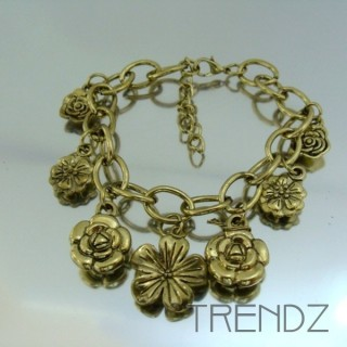 17912-20 FASHION CHARM BRACELETS IN METAL & PLASTIC