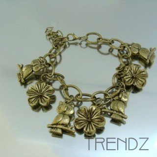 17912-24 FASHION CHARM BRACELETS IN METAL & PLASTIC