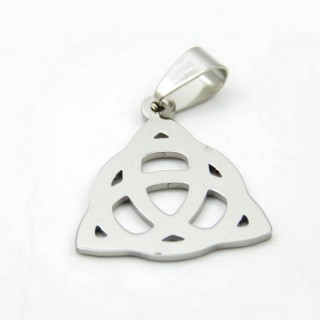 36162-40 TRIQUETRA STAINLESS STEEL 25 X 22 MM PENDANT