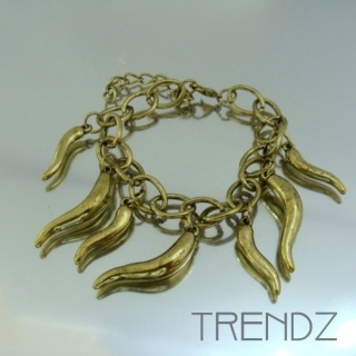 17912-25 FASHION CHARM BRACELETS IN METAL & PLASTIC