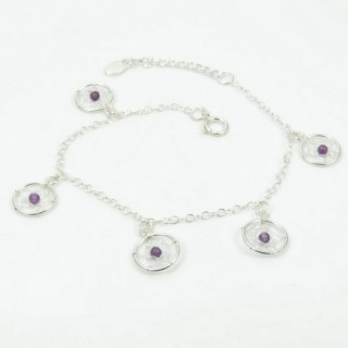 32055-01 SILVER 18.5 CM BRACELET WITH DREAMCATCHER CHARMS