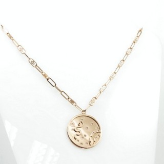 31642 ROSE GOLD STAINLESS STEEL 42 CM LONG NECKLACE