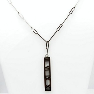 31640 STAINLESS STEEL 55 CM NECKLACE WITH MOP PENDANT