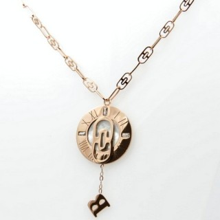 31648 STAINLESS STEEL ROSE GOLD 40 CM NECKLACE WITH MOP