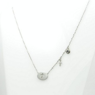 31618 ELEGANT STAINLESS STEEL 40 CM NECKLACE