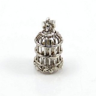 31992 CAGE SHAPED STERLING SILVER 21 X 12 MM PENDANT