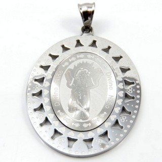 31599-02 STAINLESS STEEL 49 X 36 MM RELIGIOUS MOTIF PENDANT