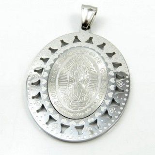 31599-03 STAINLESS STEEL 49 X 36 MM RELIGIOUS MOTIF PENDANT