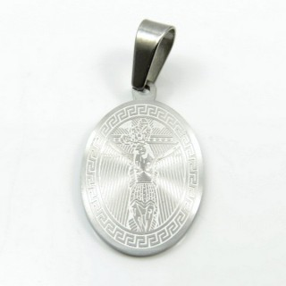 31593-01 STAINLESS STEEL 29 X 18 MM RELIGIOUS MOTIF PENDANT