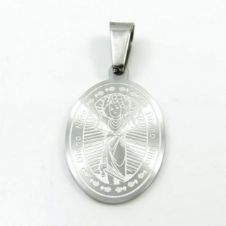 31593-03 STAINLESS STEEL 29 X 18 MM RELIGIOUS MOTIF PENDANT
