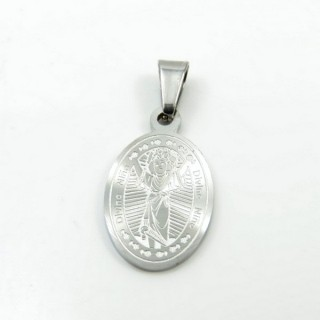 31591-02 STAINLESS STEEL 22 X 13 MM RELIGIOUS MOTIF PENDANT