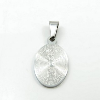31591-03 STAINLESS STEEL 22 X 13 MM RELIGIOUS MOTIF PENDANT