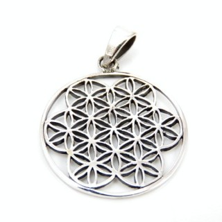 32234 STERLING SILVER FLOWER OF LIFE 22 MM PENDANT