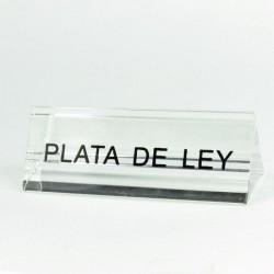 "30411 ACRYLIC ""PLATA DE LEY"" STAND 2.5 X 7.5 X 2.5 CM"