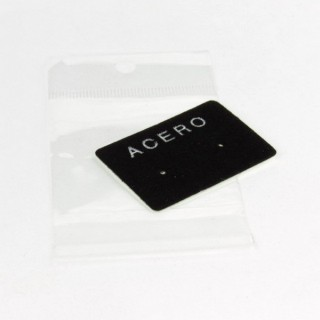 "29100 PACK 100 ""ACERO"" DISPLAY CARDS 3 X 4 CM + BAGS"