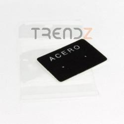"""29100 PACK 100 CARTULINAS 3 X 4 CM """"ACERO"""" + BOLSAS"""