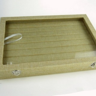 30691 RINGS DISPLAY 35 X 24 CM TRAY WITH GLASS COVER