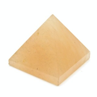32257-15 YELLOW JASPER NATURAL STONE PYRAMID WITH 2 TO 3 CM BASE