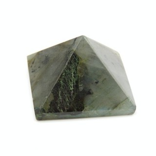 32257-11 LABRADORITE NATURAL STONE PYRAMID WITH 2 TO 3 CM BASE