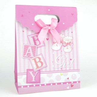 31753-05 CARDBOARD GIFT BAG WITH BOW 17 X 12 X 6 CM