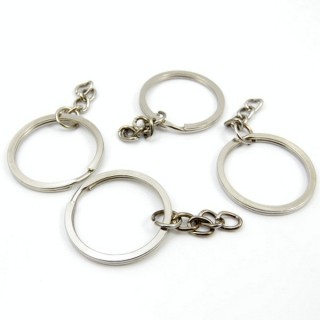 31759 PACK OF 25 RINGS TO MAKE KEYCHAINS WITH 3 CM CHAIN