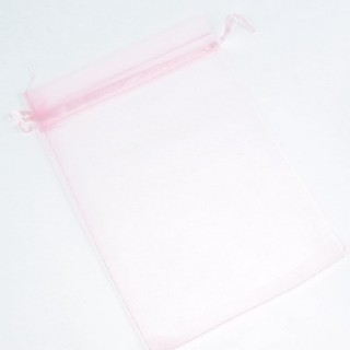 31796 PINK PACK OF 100 ORGANZA BAGS 13 X 18 CMS