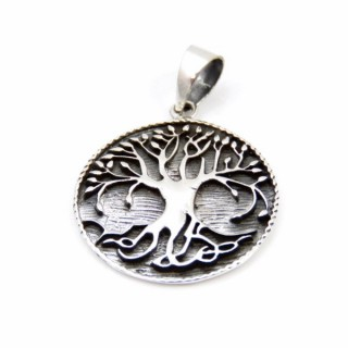 32309 SILVER 925 TREE OF LIFE PENDANT. DIAMETER: 23 MM