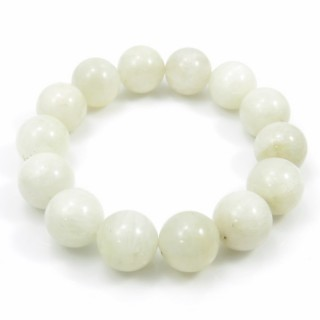 31483 ELASTIC MOONSTONE 16 - 17 MM HIGH QUALITY BRACELET