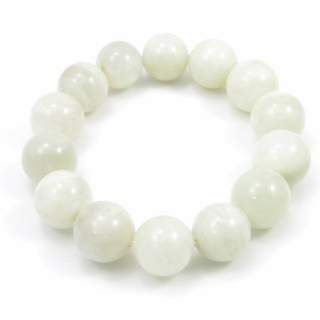 31485 ELASTIC MOONSTONE 15 - 15.5 MM HIGH QUALITY BRACELET