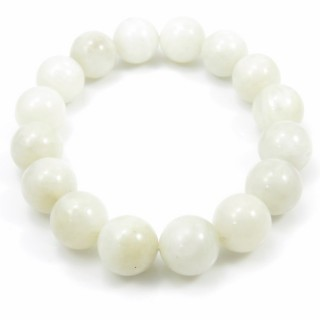 31487 ELASTIC MOONSTONE 14 - 14.5 MM HIGH QUALITY BRACELET